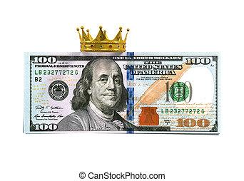 conta dólar, com, coroa