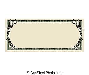 conta, dólar, impressão, selo, isolado, ícone