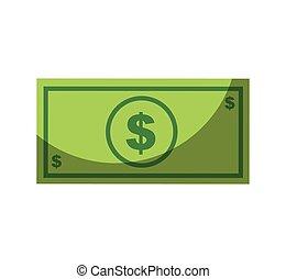 conta, dólar, isolado, ícone