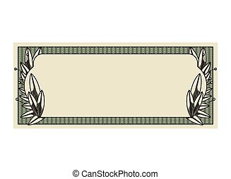 conta, dólar, isolado, selo, impressão, ícone