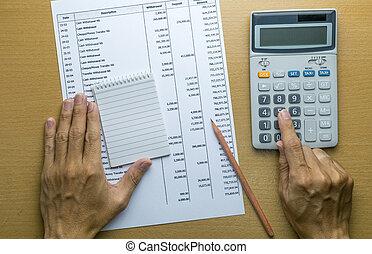 conta, mensal, orçamento, despesas, planificação, ou