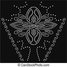 conta, pedra, flor, cobrança, artwork