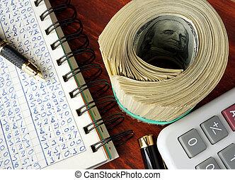 contabilidad, concept.