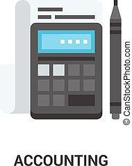 contabilidad, concepto, icono