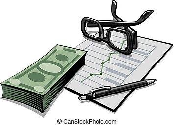 contabilidad, dinero