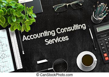 contabilidad, el consultar, servicios, concept., 3d, render.