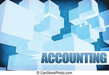 contabilidad, en, futurista, resumen