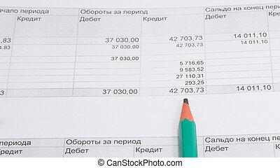 contabilidad, informe