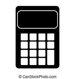 contabilidad, matemáticas, calculadora, icono, pictogram