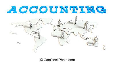 contabilidad, negocio global