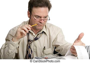 contabilidad, serie, -, concentración