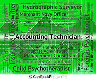 contabilidad, técnico, representa, equilibrar libros, y, cuentas