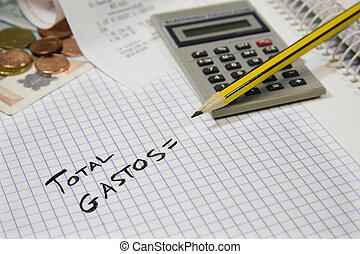 contabilidade, finanças, e, negócio
