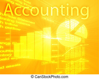 contabilidade, ilustração