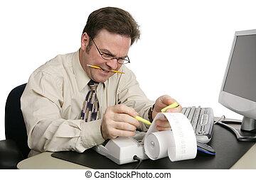 contabilidade, -, imposto, preparação, série