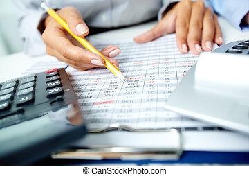 contabilidade, notas
