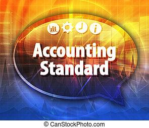 contabilidade, padrão, negócio, termo, borbulho fala, ilustração