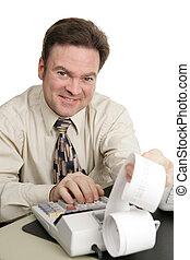 contabilidade, série, -, amigável