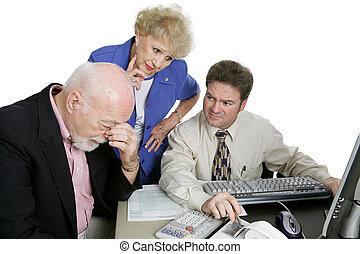 contabilidade, série, -, financeiro, preocupações
