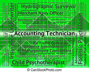 contabilidade, técnico, representa, equilibrar livros, e, contas