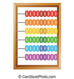 contabilidade, um, arco íris, ábaco, para, financeiro,...