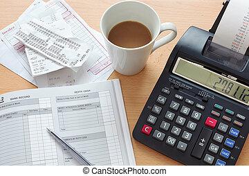 contabilidade, vendas, livro do razão