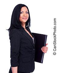 contabilista, woman., negócio