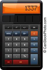 contabilità, calcolatore, classico