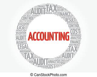 contabilità, parola, nuvola