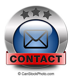 contact adress - contact address icon or button. Write or...