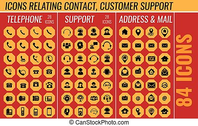 Contact and customer support icon