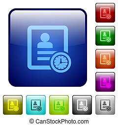 Contact appointment color square buttons