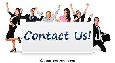 contact, bannière, nous
