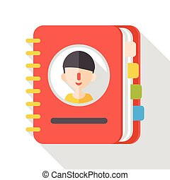 contact book flat icon