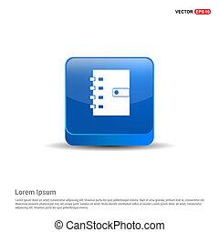 Contact book icon - 3d Blue Button