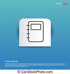 Contact book icon - Blue Sticker button
