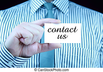 contact,  -,  Business, carte, nous