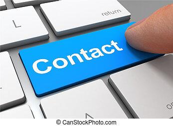 contact button concept 3d illustration