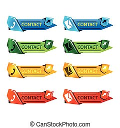 Contact Button set with email and telephone sign