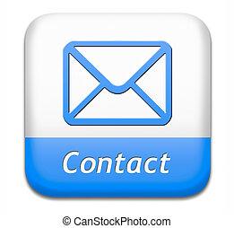 contact button - contact address button for feedback icon,...