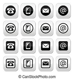 Contact buttons in circle and squar