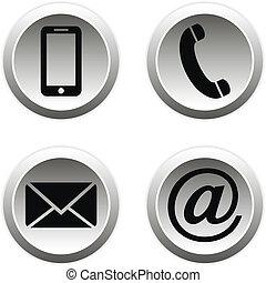 Contact buttons set.