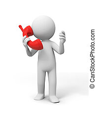 Contact by phone - A people speak by phone