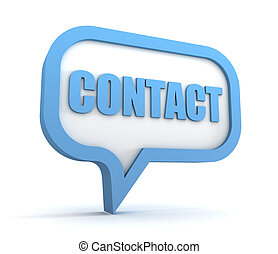 contact concept 3d illustration