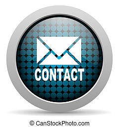 contact glossy icon
