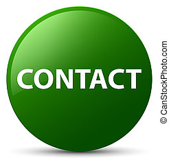 Contact green round button
