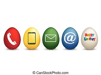 Contact Happy Easter Colored Eggs
