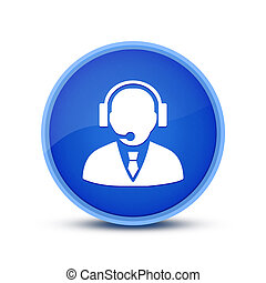 Contact icon isolated on special blue round button abstract