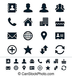 Contact icons - Simple vector icons. Clear and sharp. Easy...