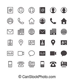 Contact icons, included normal and enable state.